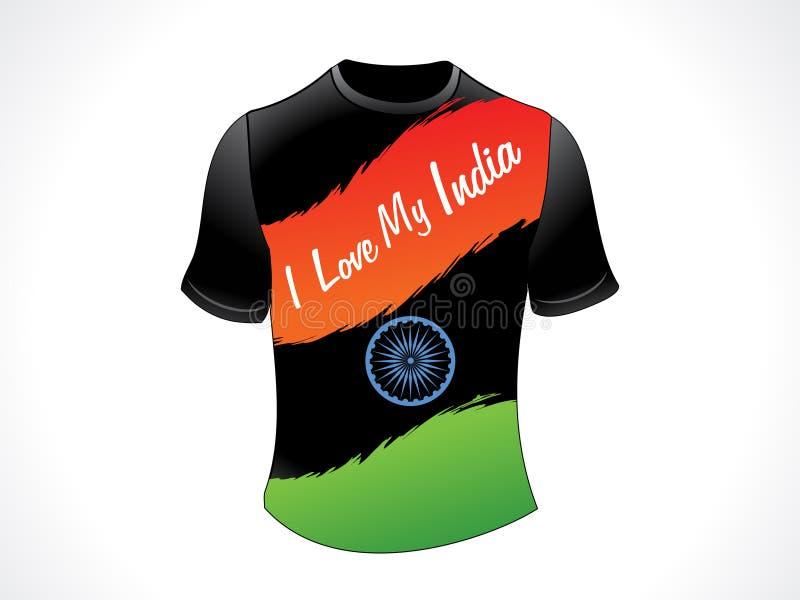 Abstract Indian Patriotic Tshirt Royalty Free Stock Image