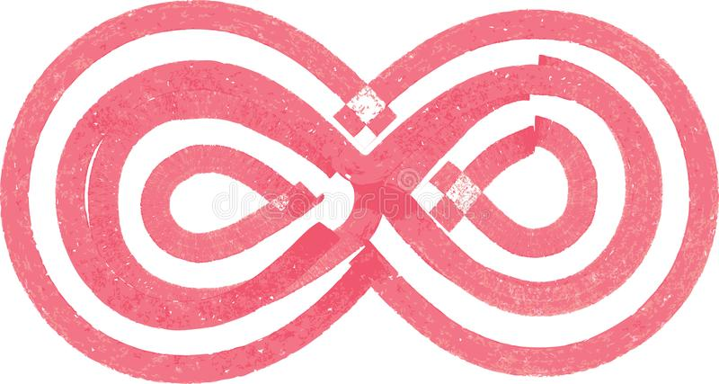 Abstract Infinity Symbol Made With Red Marker Stock Vector