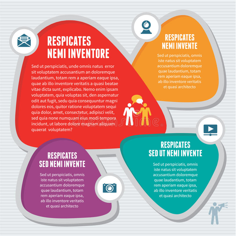 Abstract Infographic-Concept - Creatieve Ontwerpregeling royalty-vrije illustratie