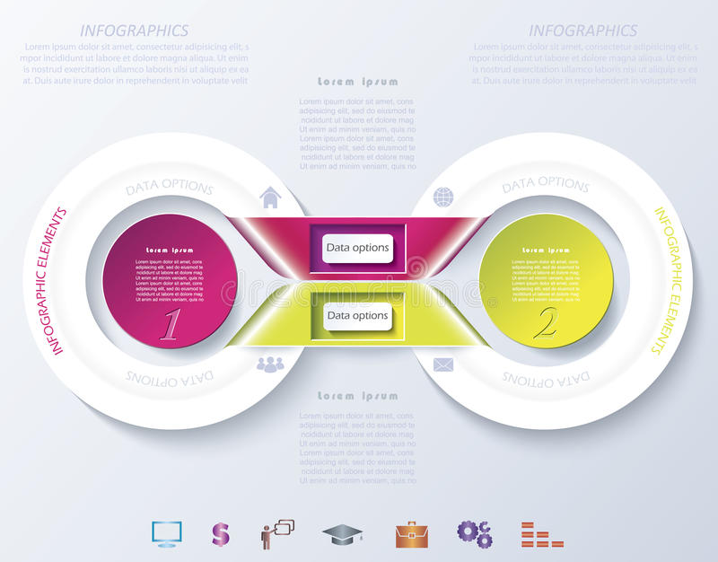 Abstract infographic design with color circles vector illustration