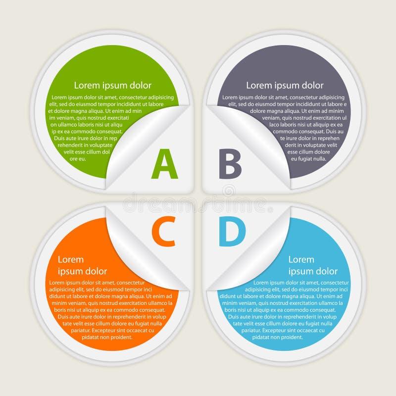 Abstract infographic document De elementen van het ontwerp vector illustratie