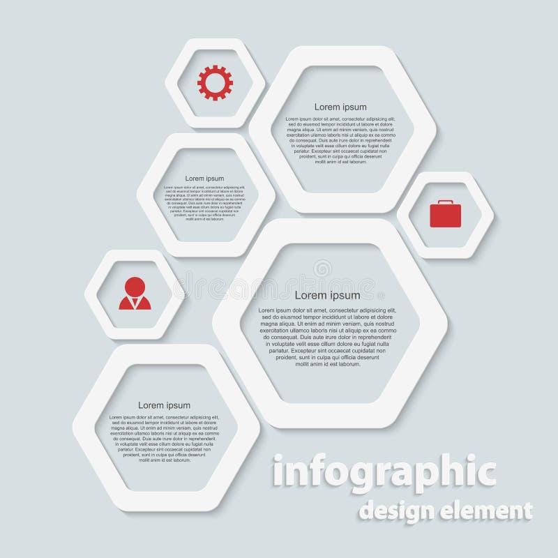 Abstract infographic document. Ontwerpelementen. royalty-vrije illustratie