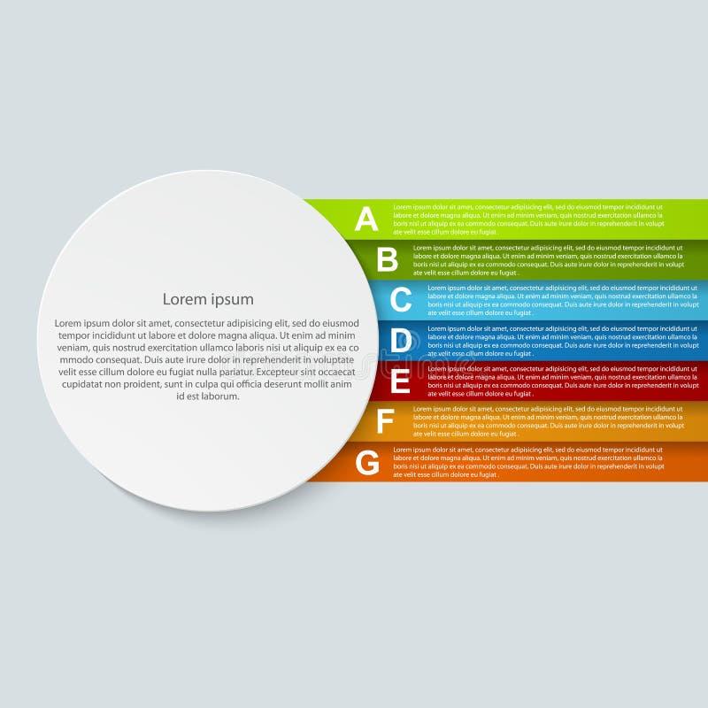 Abstract infographic document.  Vectorillustratie. royalty-vrije illustratie