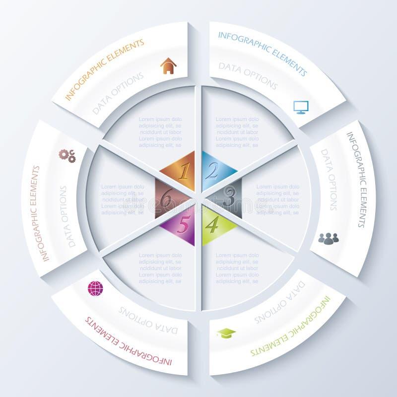 Abstract infographic ontwerp met cirkel stock illustratie