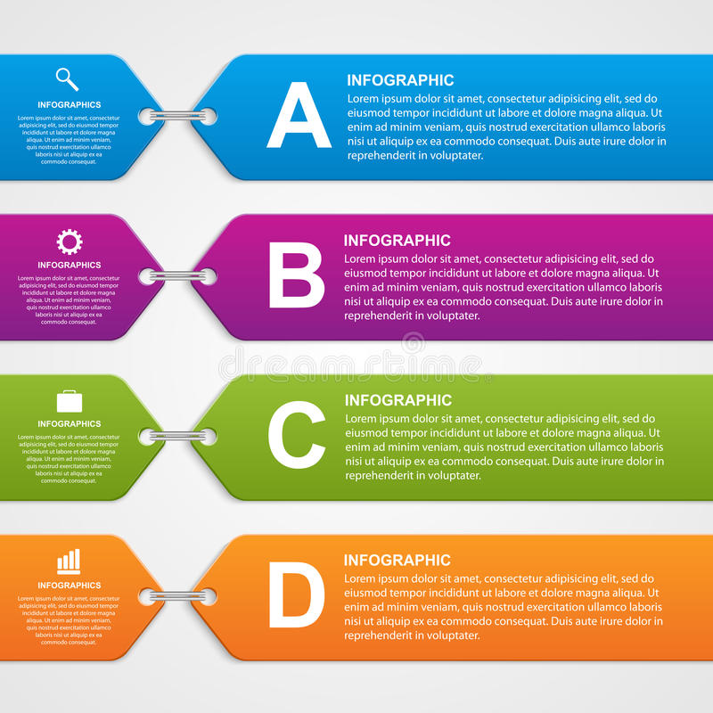 Abstract infographic options banner. Design elements. vector illustration