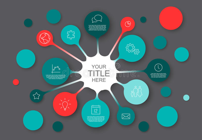 Abstract infographic template with circles stock illustration