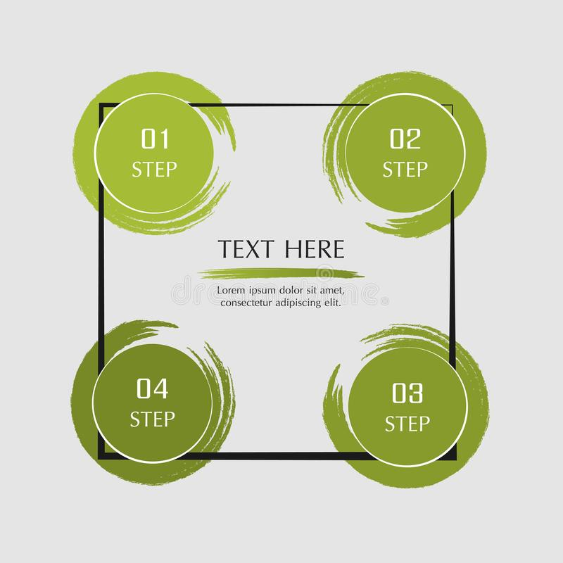 Vector infographic template. Abstract infographic template with 4 steps for success. Business template with four options for presentation, brochure, diagram royalty free illustration