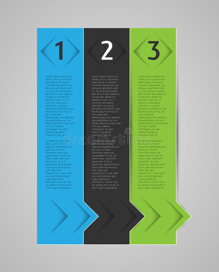 Abstract infographic template. Vertical options banners royalty free illustration