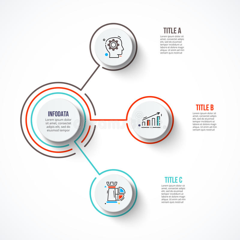 Abstract infographics number options template. stock illustration