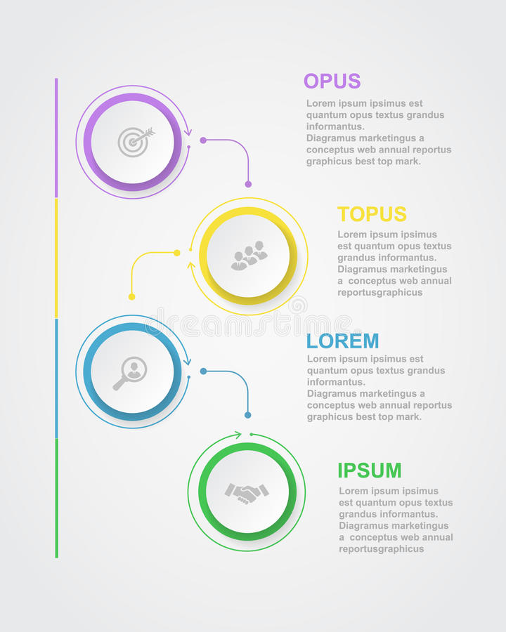 Abstract infographics number options template royalty free illustration
