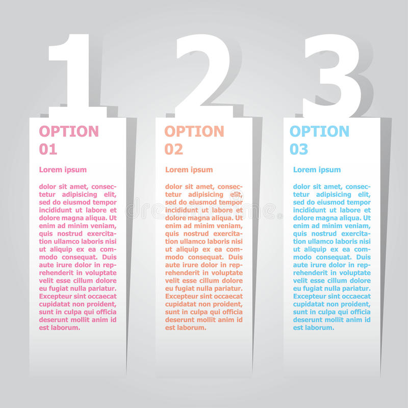 Abstract infographics number options template. Vector illustration. can be used for workflow layout, diagram, business step option vector illustration