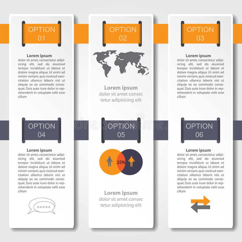 Abstract infographics number options template. Vector illustration. can be used for workflow layout, diagram, business step option stock illustration