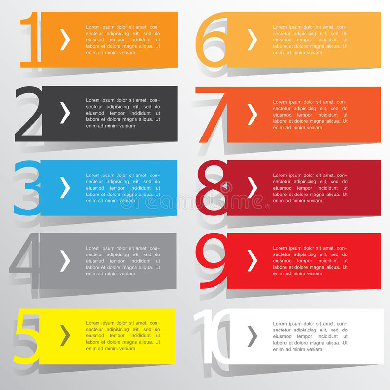Abstract infographics number options template. Vector illustration. can be used for workflow layout, diagram, business step option royalty free illustration
