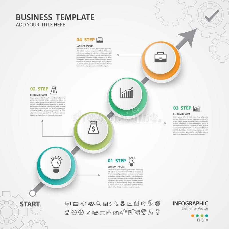 Abstract infographics number options template, Vector illustration, web graphic, presentation, diagram, Process chart, flyer royalty free illustration