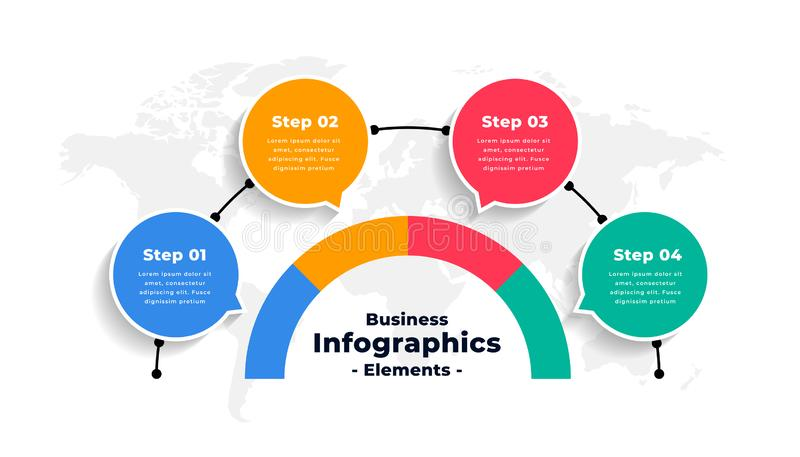 Abstract infographics options number workflow template design. Vector royalty free illustration