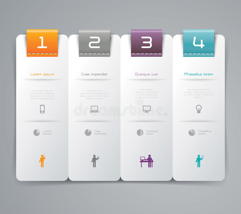 Abstract infographics template design stock illustration