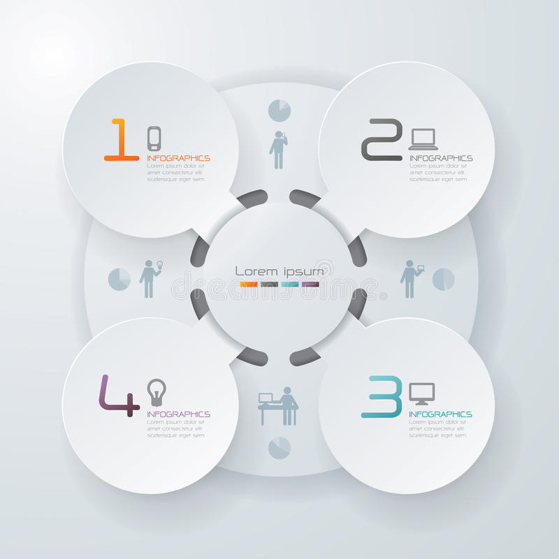Abstract infographics template design vector illustration