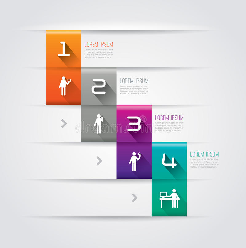 Abstract infographics template design. vector illustration
