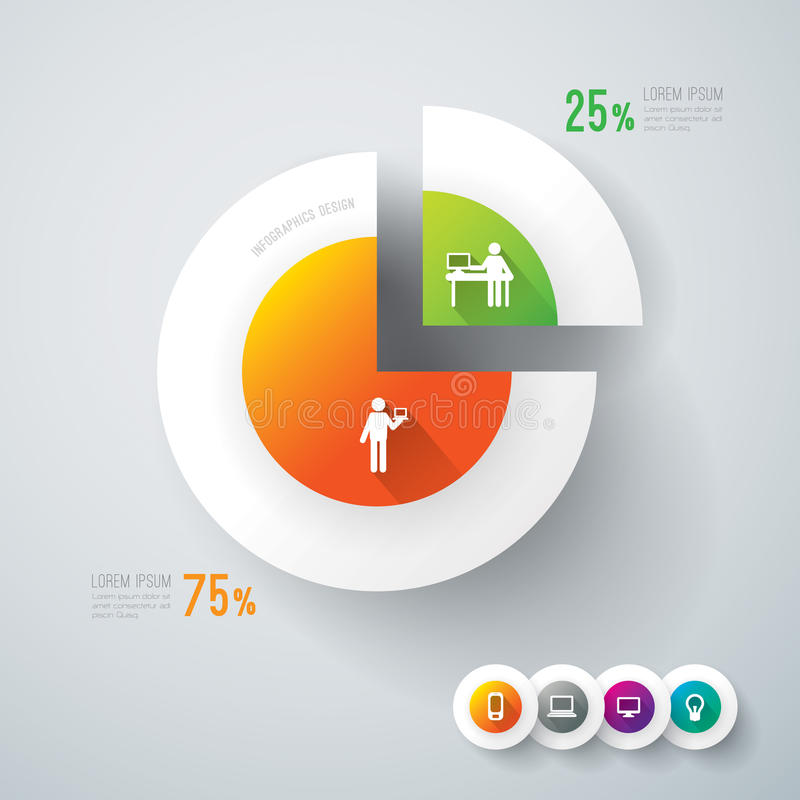 Download Abstract Infographics Template Design. Stock Vector - Illustration of concept, laptop: 37277878