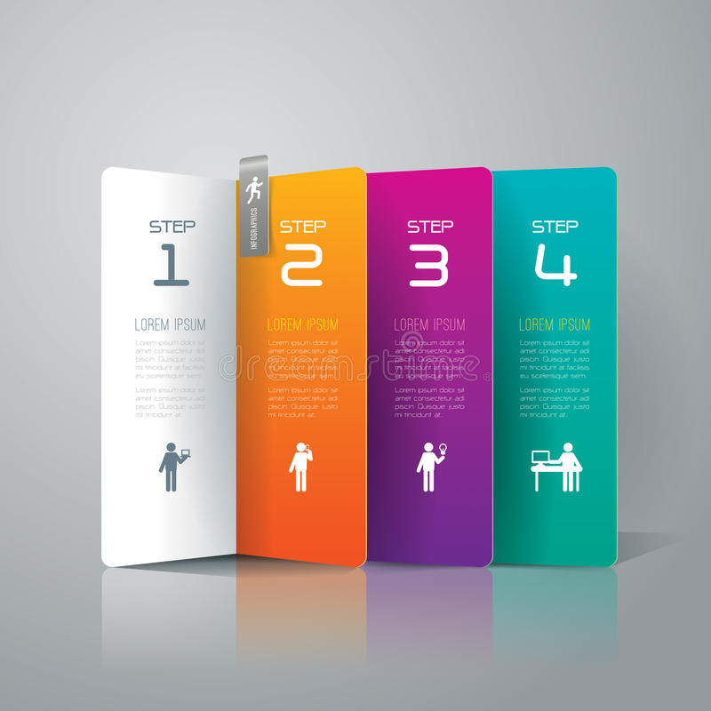 Abstract infographics template design. royalty free illustration