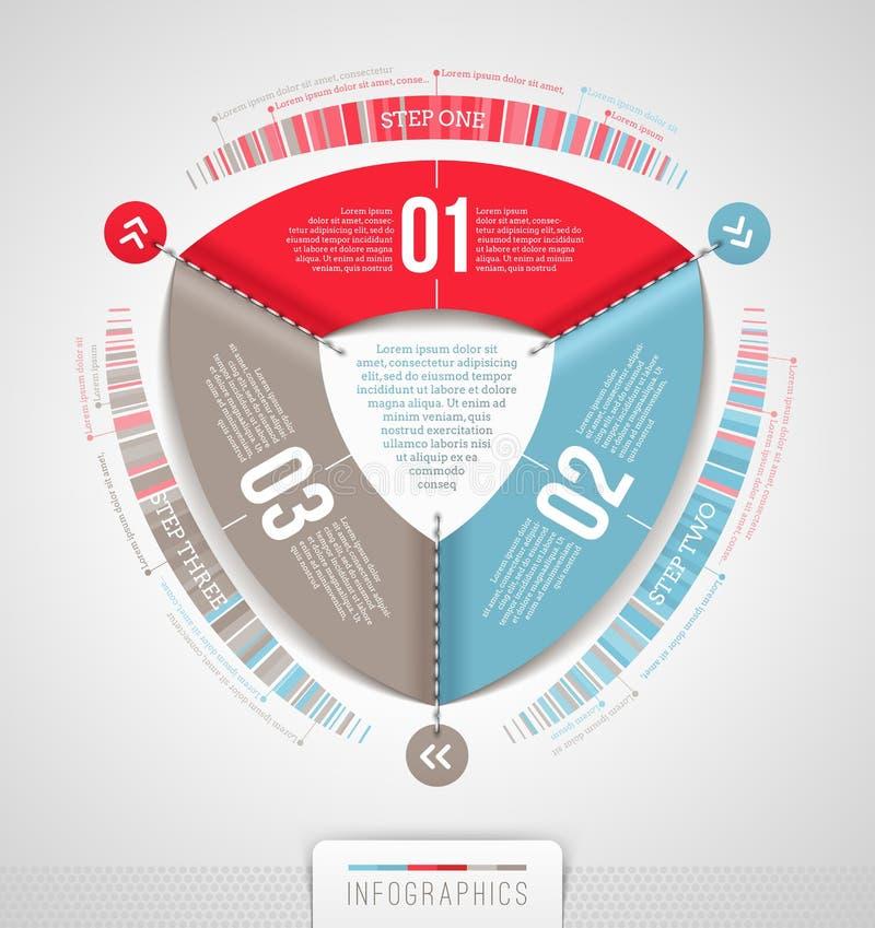 Abstract infographicsontwerp stock illustratie