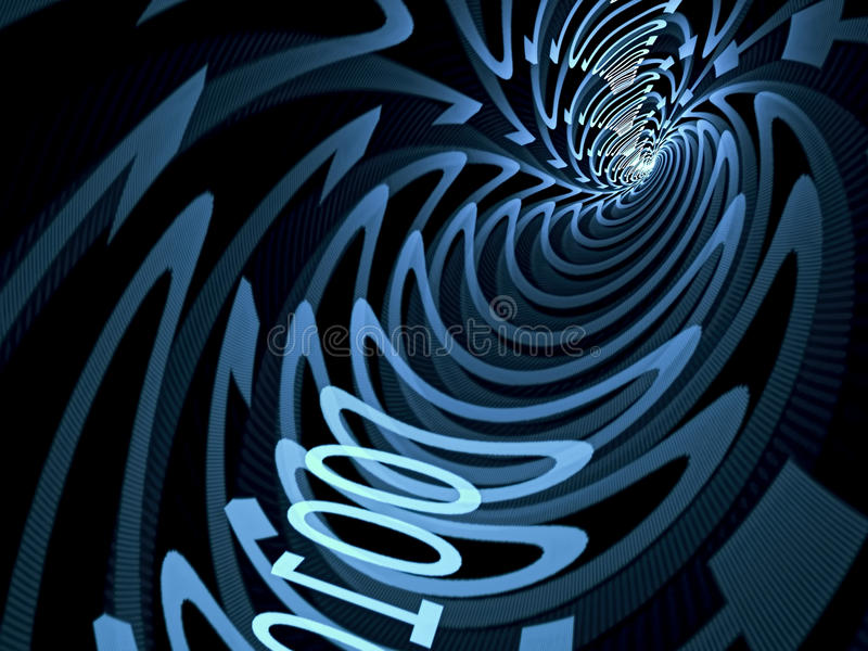 Abstract information tunnel - digitally generated image vector illustration