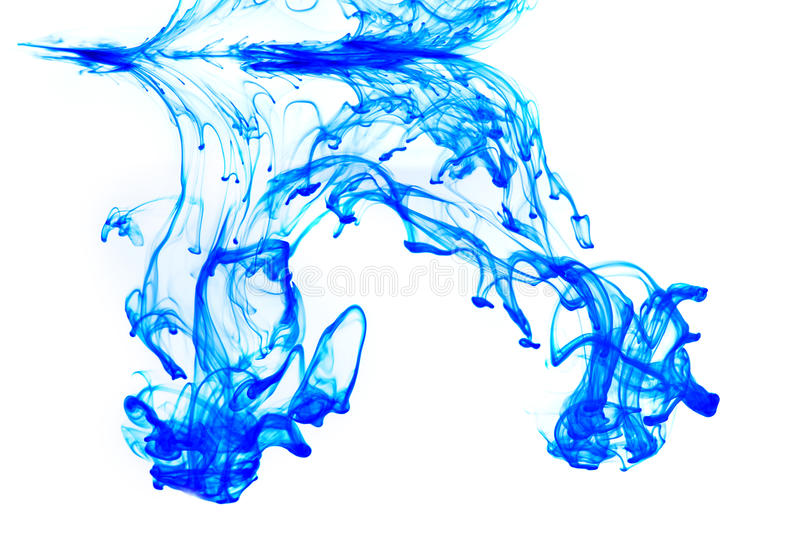 Abstract ink. In water isolated royalty free stock photography