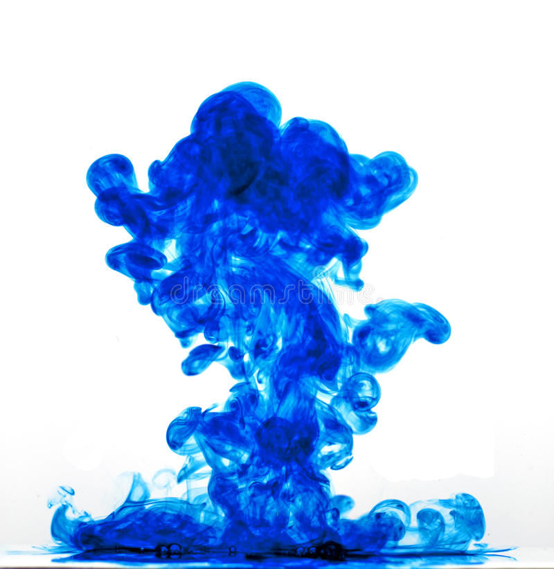 Abstract Ink. An abstract image of ink (actually blue food coloring) flowing in water to make an interesting and unique image