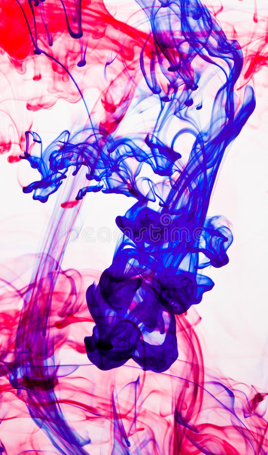 Abstract ink in water royalty free stock image