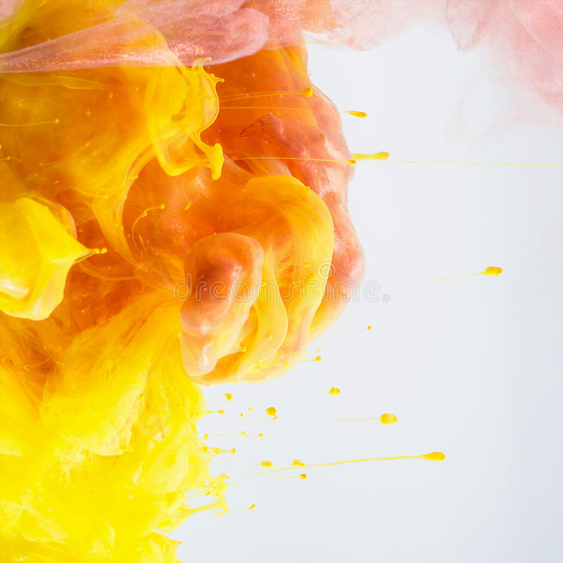Abstract ink in water royalty free stock photos