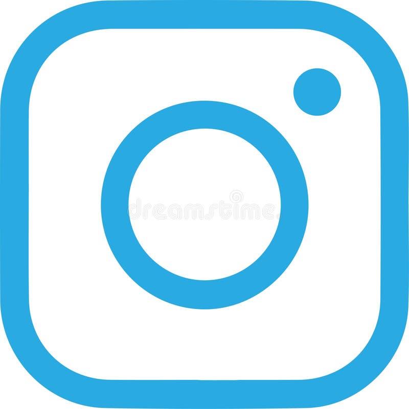 Abstract Instagram-embleem op wit stock foto
