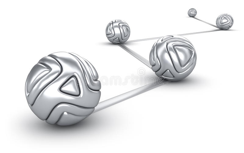 Download Abstract Interconnected Silver Balls Stock Illustration - Image: 18940606