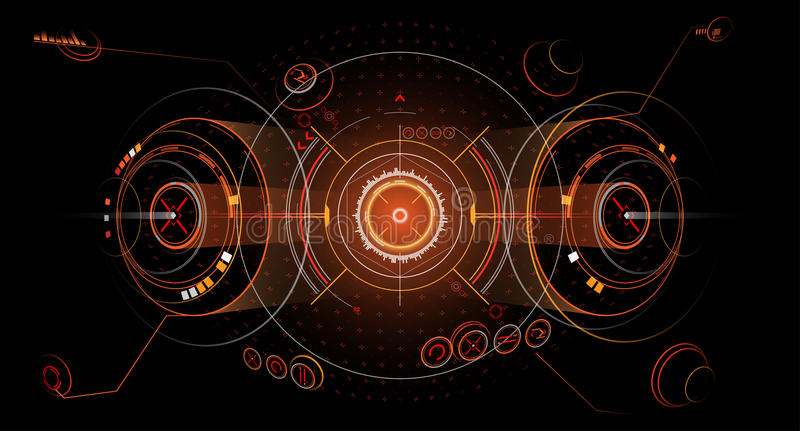 Abstract interface. Futuristic virtual graphic touch user interface HUD in vector royalty free illustration