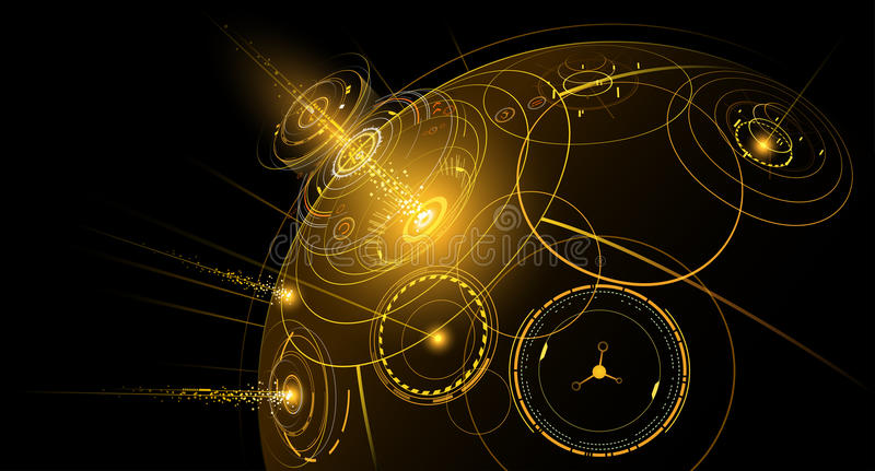 Abstract interface. In vector on black background vector illustration