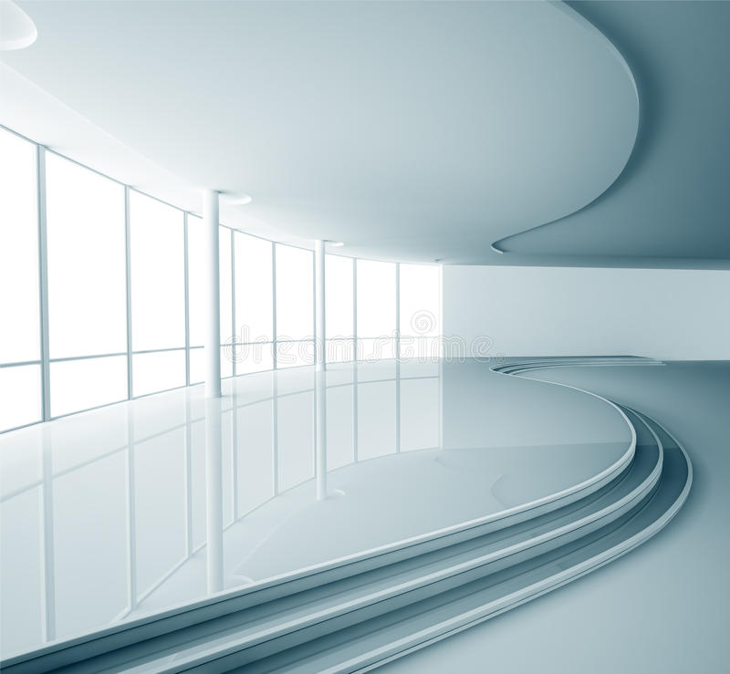 Abstract interior 3d render vector illustration