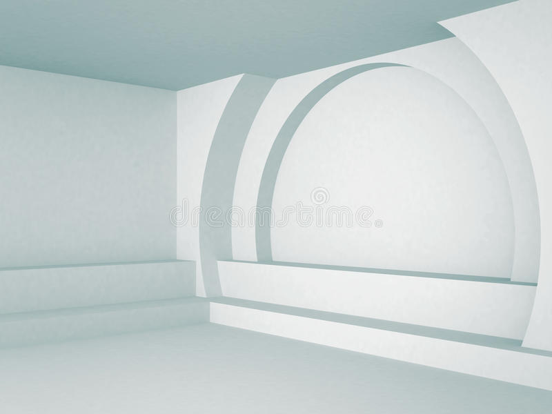 Abstract Interior Architecture Blue Background royalty free illustration