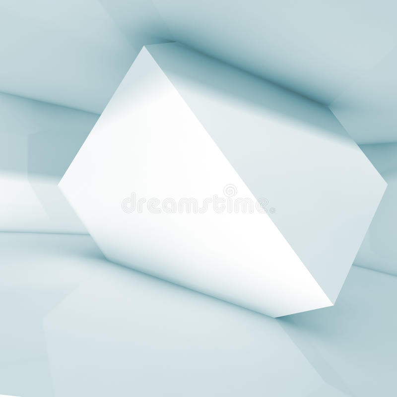 Free Abstract Interior Design, White Cube In The Room Stock Photos - 68318543