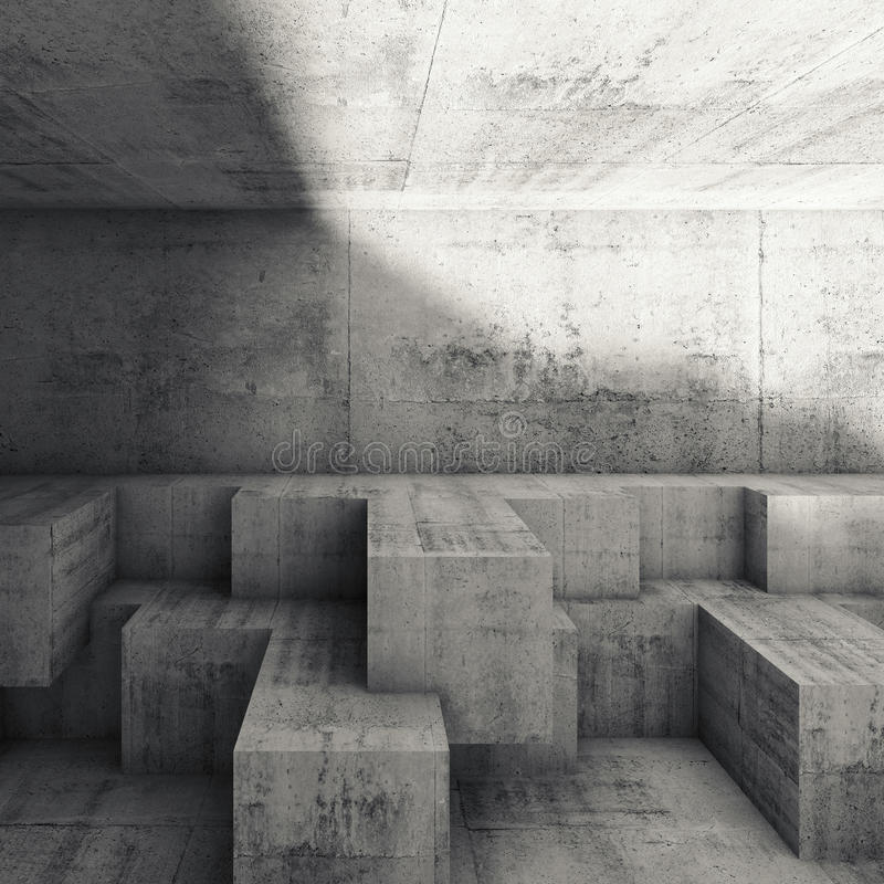 Free Abstract Interior Design With Cubic Structures 3 D Royalty Free Stock Photography - 67479297