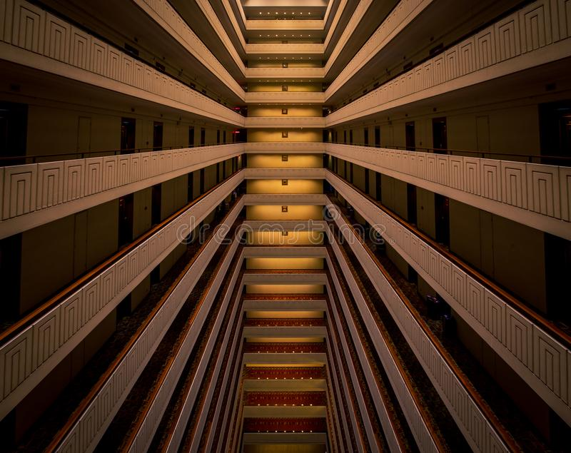 Hotel interior abstract. Abstract interior view of a hotel in Lima, Peru stock image