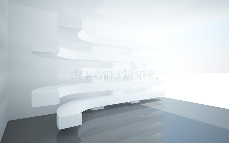 Download Abstract Interiors With Stylized, Abstract White Stock Illustration - Image: 25272634