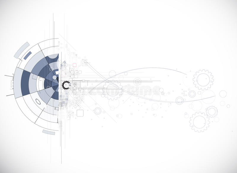 Abstract internet computer technology business solution. Abstract futuristic circuit high computer technology business background stock illustration