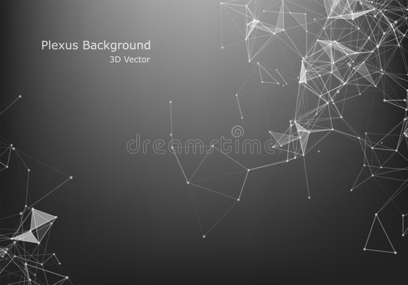 Abstract Internet connection and technology graphic design.  Business virtual concept. Abstract Plxus background with Internet connection and technology royalty free illustration