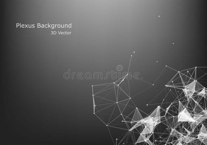 Abstract Internet connection and technology graphic design.  Business virtual concept. Abstract Plxus background with Internet connection and technology stock illustration