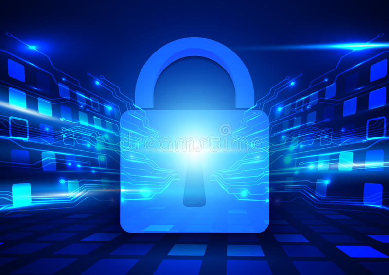 Abstract internet security and technology concept background royalty free illustration