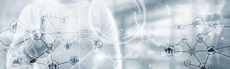 Abstract internet van ding technology automatisering smart industry website header concept royalty-vrije stock foto