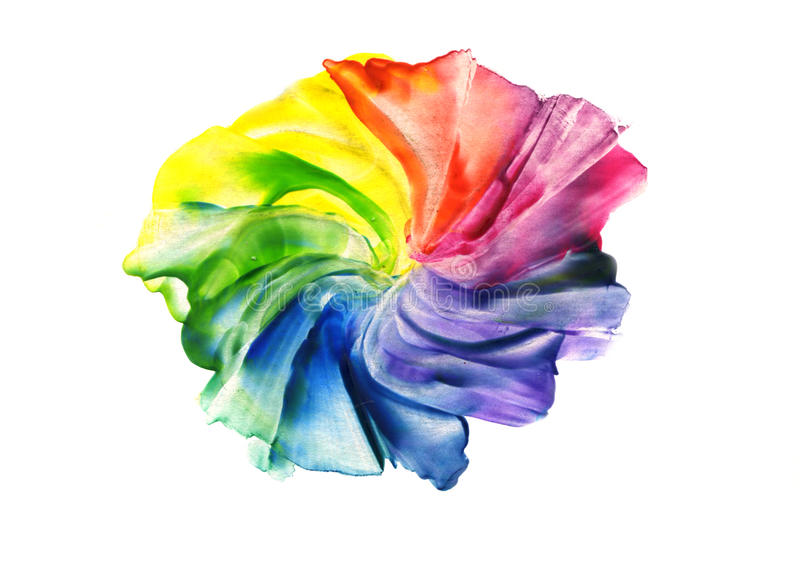Abstract iridescent flower royalty free illustration