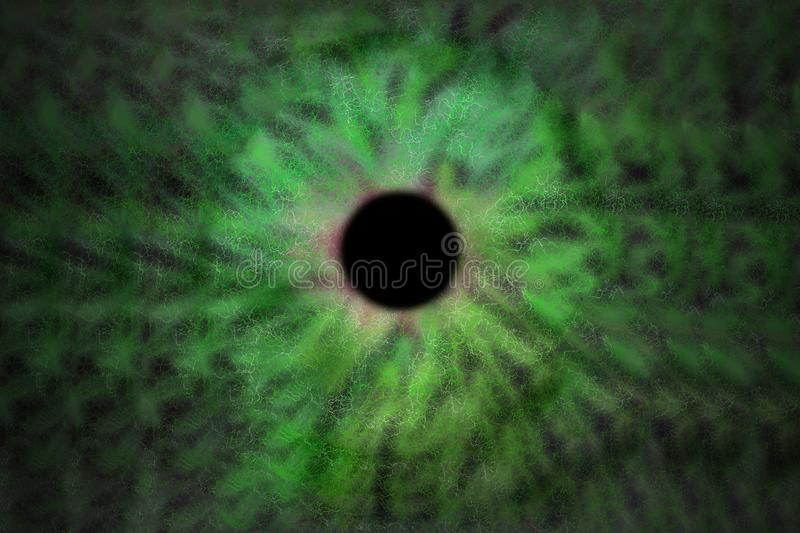 Iris Background - Galaxy Cosmos Style, Universe Astronomic Wallpaper with green turquoise stardust. Abstract Iris Background - Galaxy Cosmos Style, Universe royalty free stock image