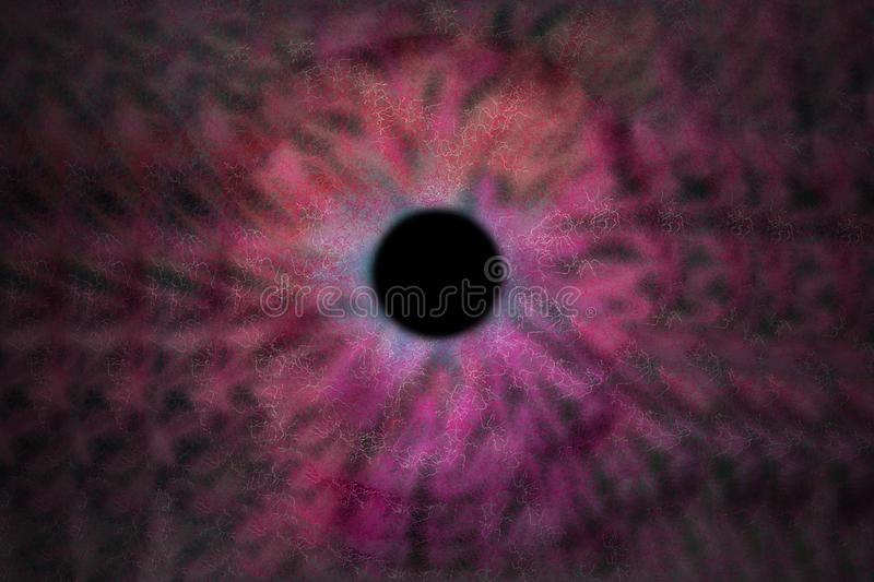 Iris Background - Galaxy Cosmos Style, Universe Astronomic Wallpaper with pink stardust stock illustration