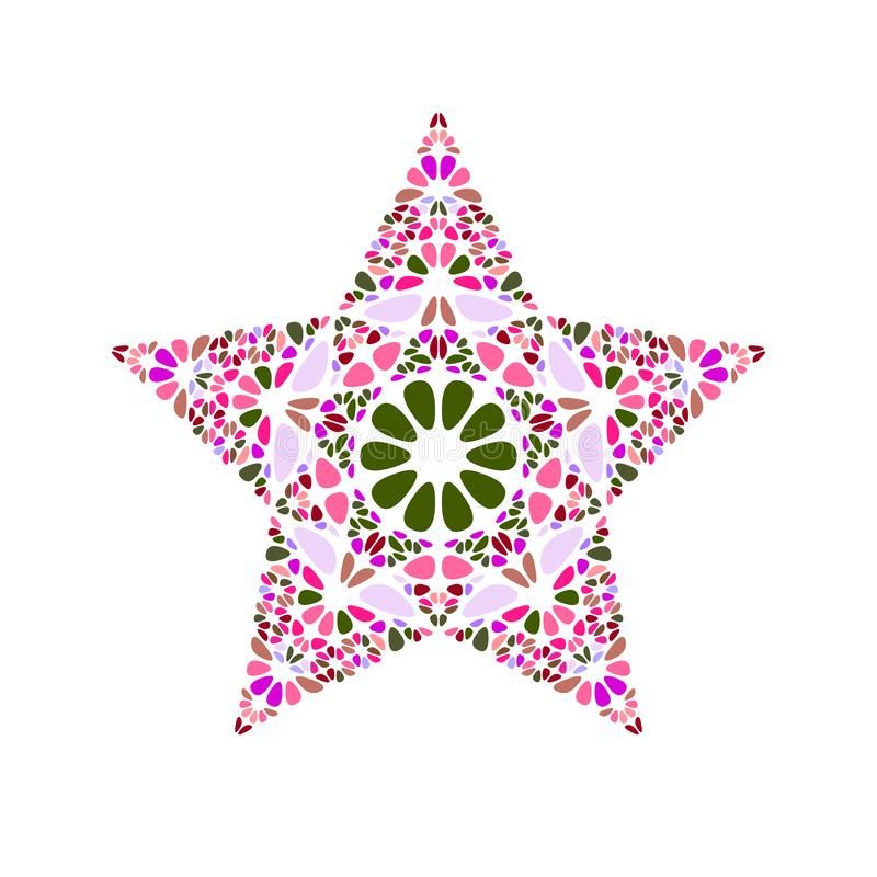 Abstract isolated colorful floral ornament star shape royalty free illustration