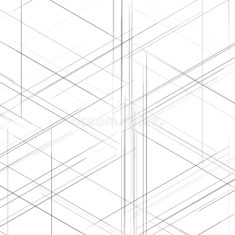 Abstract isometric computer generated 3d blueprint stock vector abstract isometric hexagonal computer generated 3d blueprint visualization lines background vector illustration for break through in technology malvernweather Choice Image